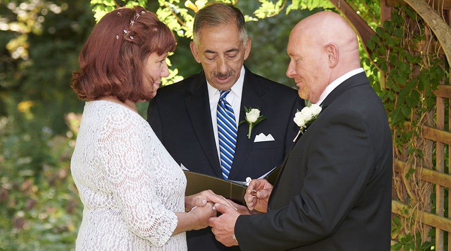 Officiating Nancy & Bobby's wedding ceremony