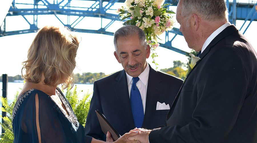 Officiating Peggy & Brian's wedding